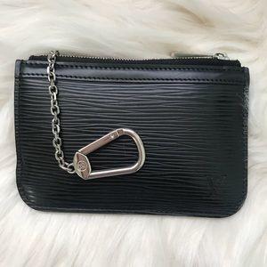 Louis Vuitton Black Epi Leather Key Pouch